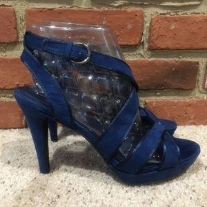 Zara Blue Strappy Sandals Sz 40